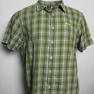 Oakley XL Plaid Button Front Down Short Sleeve Shi